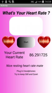 This app plays simulated heart sounds during the measurement!