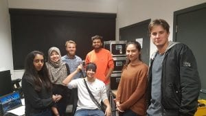 "Team ""Cancer Club"" visiting Diffuse Optical Imaging Lab (Hosts: Luke and Prash)"