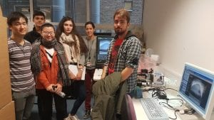 "Team ""Panda Cure"" visiting Ultrasound Imaging Lab at the Centre for Medical Image Computing (Hosts: Yipeng and Ester)"