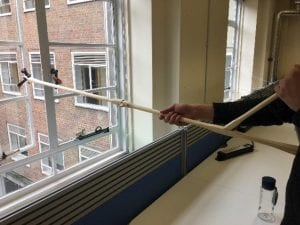 Window Opener being tested