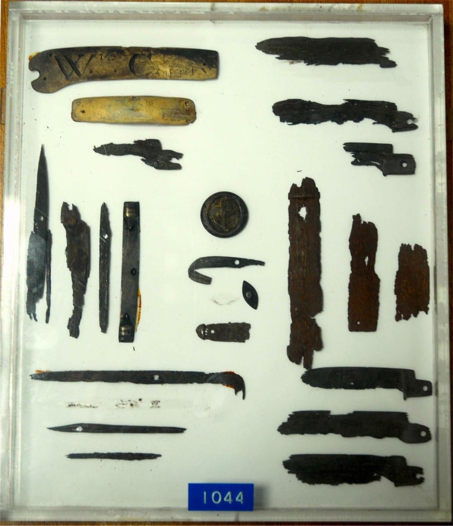 The contents of the stomach of a knife eater, Gordon Museum (King's College London)