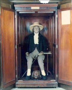 The Jeremy Bentham Auto-Icon in the South Cloister of UCL