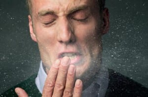 Always cover your sneezes! Photograph: NHS