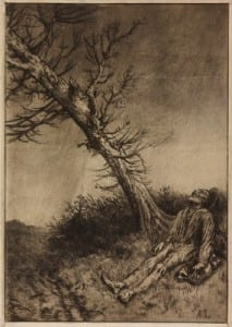 Alphonse Legros Copyright Alphonse Legros UCL Art Museum Object Number 8112 La Mort du Vagabond 1875