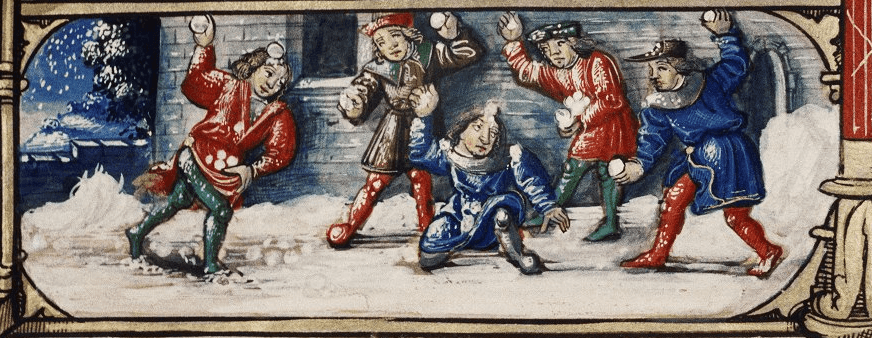 medieval snowball fight