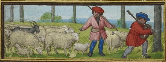 Medieval April calendar page