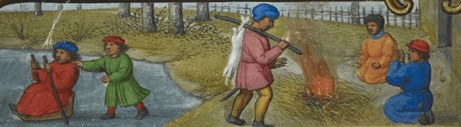 December medieval calendar page