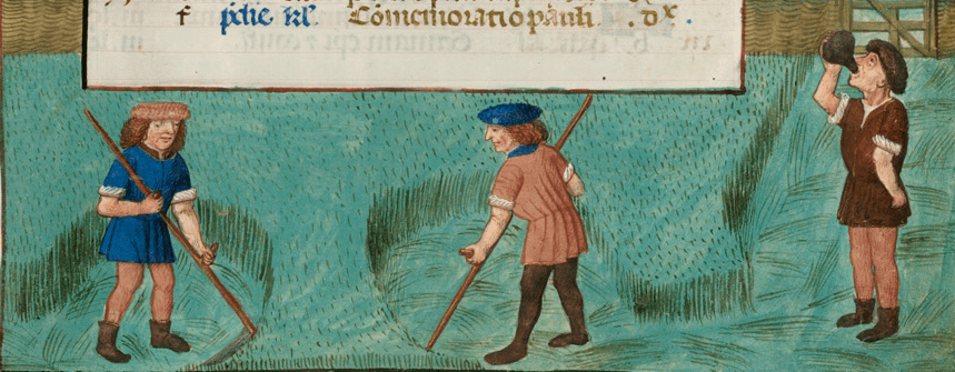 June medieval calendar page