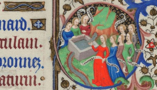 November medieval calendar page