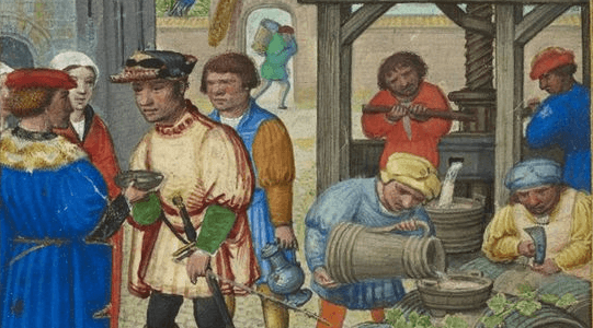 October medieval calendar page
