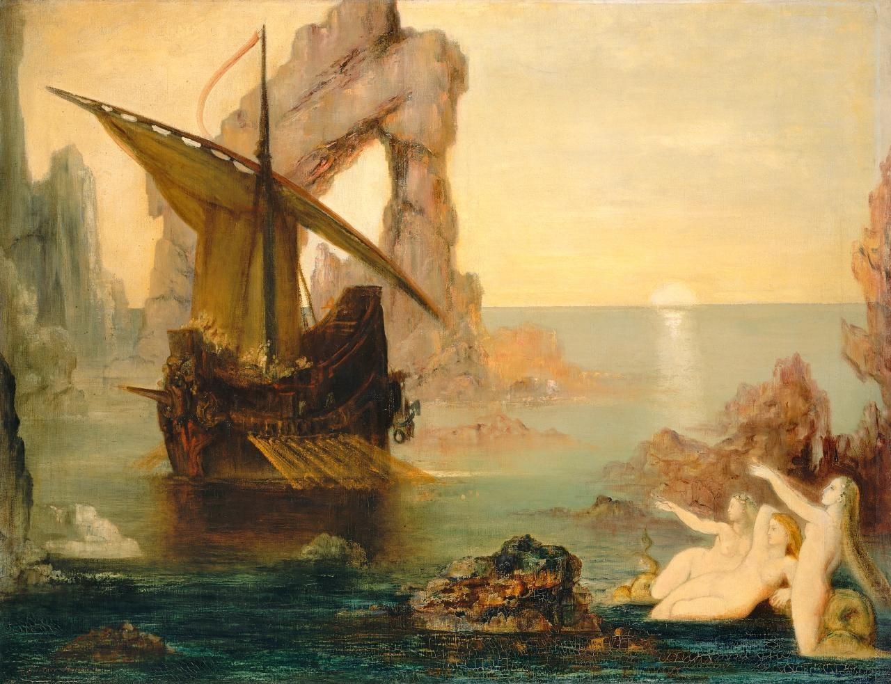 The Sirens by Gustave Moreau (1985). License: Wikimedia commons