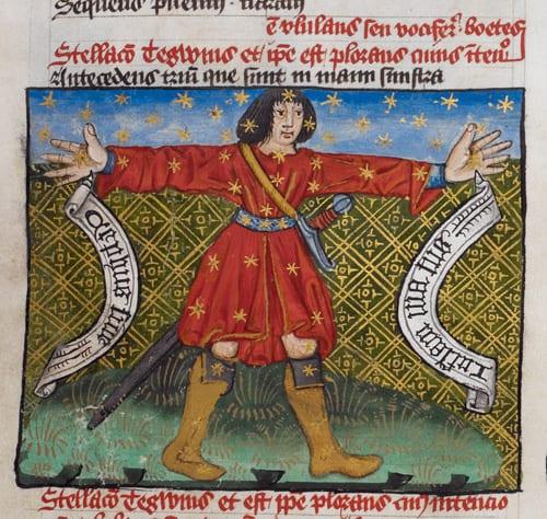 Medieval hug manuscript