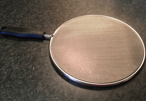 My chosen mould, a kitchen pan splatter guard, made from fine sieve-like material. (Image credit: Hannah Wills)