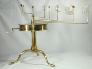 Brass and ivory orrery, used for calculating the movement of the planets