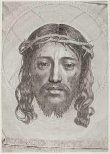 The Sudarium of St. Veronica by Claude Mellan