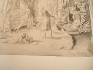Baroque Drawing by Mary Adshead