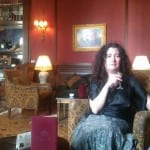 Drinking sherry in the Winter Palace bar