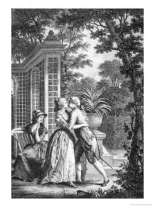 "image of ""The First Kiss of Love"" from La Nouvelle Héloïse"