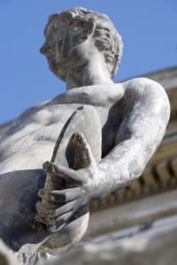 Statue on UCL front Portico