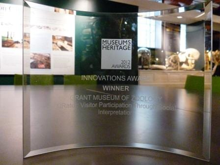 Grant Museum Museums and Heritage Award