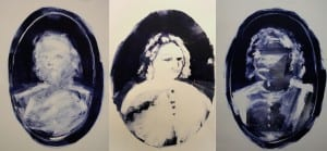 Three portraits from the Anon series, 2011