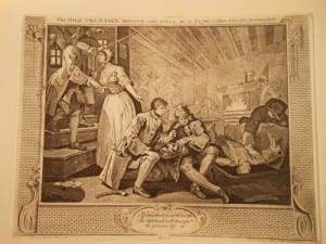 print from William Hogarth's series Industry and Idleness, showing the fate of the idle apprentice
