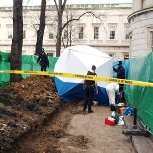 Police excavation in UCL Quad
