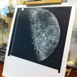 NASA moon print on display