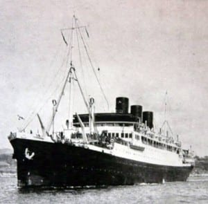 The SS Champollion, the ship which took Petrie, Hilda, and Gerald Harding from Marseilles to Alexandria in November 1926.