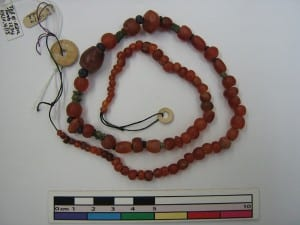 A carnelian bead necklace. Beautiful but deadly?