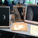 NASA images set up for our public engagement event.