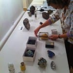 Setting up our stand for our gallery talk.