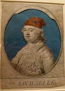 Anonymous'Louis Seize en Bonnet des Jacobins Donne au Roi'Hand-coloured etching, circa 1792