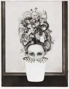 Norma Bessouet 'Self Portrait', Etching and aquatint, 1972 Accession number: 8264 @ Norma Bessouet
