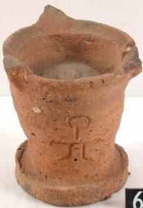 A ceramic incense burner. UC65207 Petrie Museum of Egyptian Archaeology