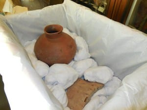 The Pottery being packed up