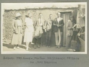 Winifred Brunton on the far right of this picture beside Guy Brunton. From Gertrude Caton-Thompson's photograph album. Copyright Petrie Museum of Egyptian Archaeology, UCL.