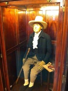 Bentham enjoying his new walking stick.
