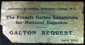 Galton Bequest label
