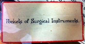 Label from historic display