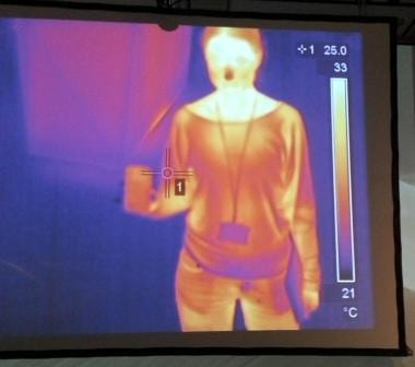 Thermal imaging camera in the Extremes exhibition at the Horniman Museum