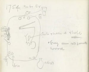 Grave 1754 at Naqada from Quibell's notebook. Petrie Museum Archives notebook 139.