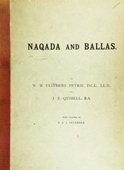 Flinders Petrie's 1896 excavation report from work at Naqada