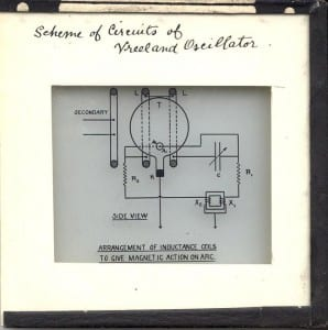 Scan of slide EE703, showing a diagram of a Vreeland oscillator
