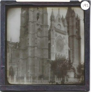 Grant Museum Lantern Slide of the Cathedral at León LDUCZ-192. Why is it in the Grant Museum collection? How was it used in the past?