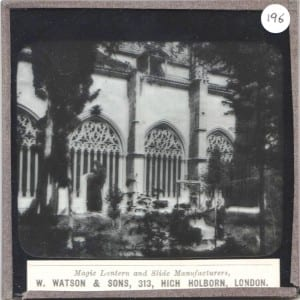 Another slide from the Cathedral series. Grant Museum Lantern Slide of the Cathedral at Segovia LDUCZ-196.