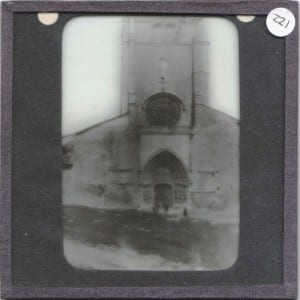 Mystery cathedral slide, LDUCZ 221, from the Grant Museum. Ideas on the identification on a postcard or better yet in the comments below.