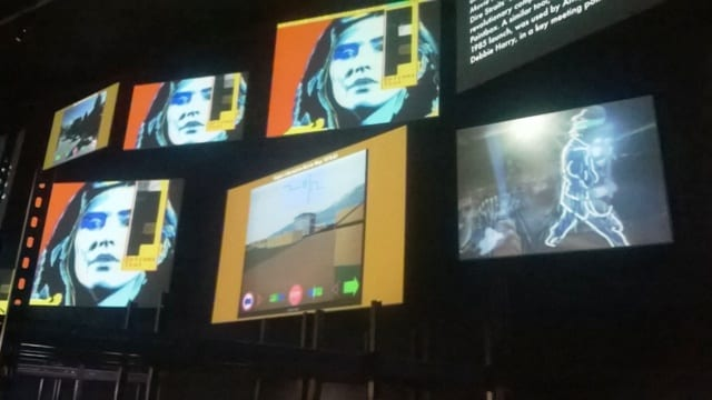 An image of the screen display in Digital Revolution at the Barbican Centre