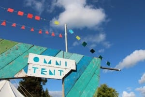 Image of the Omni tent at the Green Man festival