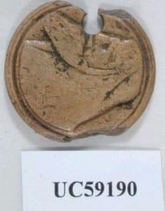 A Greco-Roman theatre token